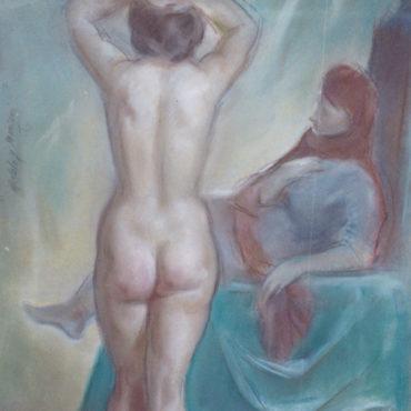 La modelo y el maniquí en el estudio del pintor - Pedro Mozos