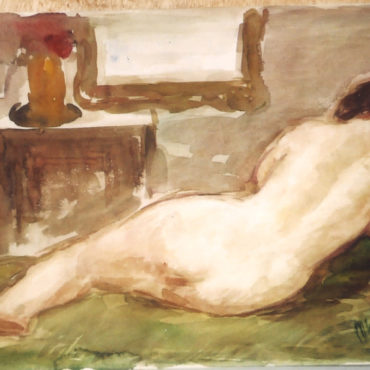 Desnudo de espaldas - Pedro Mozos